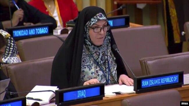Farideh Olad Qobad, Iran's representative to UN's women commission.