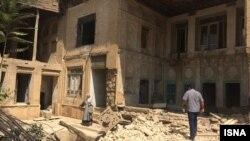 تصویری از تخریب چند خانه تاریخی در شیراز با هدف توسعه حرم «شاهچراغ »