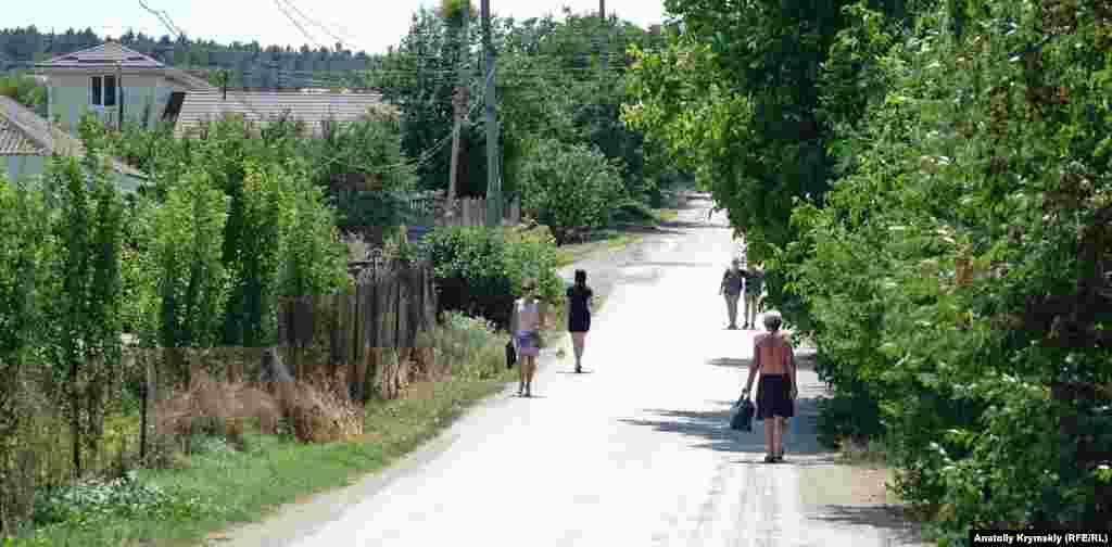 На сельской улице в летний полдень