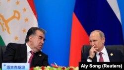 Архивска фотографија, Таџикистанскиот претседател Емомали Рахмон на средба со рускиот претседателот Владимир Путин,