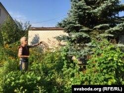 Елку каля садовага дамка Ніна Багінская садзіла ўласнаручна