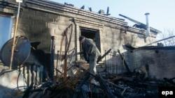 Разрушенный частный дом, Донецкая область