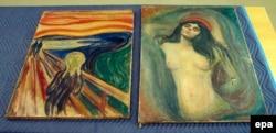 Картины «Крик» и «Мадонна» норвежского художника Эдварда Мунка