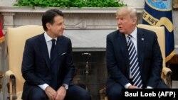 Kryeministri italian, Giuseppe Conte dhe presidenti amerikan, Donald Trump
