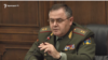 Armenia -- Lieutenant General Artak Davtian, the chief of Armenian army's General Staff, speaks at a news conference in parliament, Yerevan, February 18, 2020.