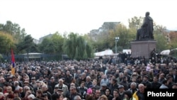 Демонстрация оппозиции в Ереване, 28 октября