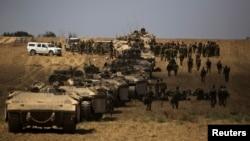Газа секторындағы Израиль әскері. 25 шілде 2014 жыл.