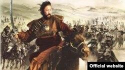 """Обложка коробки диска с фильмом """"Монгол"""", номинированным в 2007 году на премию """"Оскар""""."""
