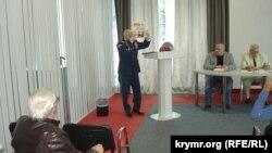 Проросійські активісти на конференції «Фактор «російського руху» в новітній історії Криму», 28 вересня 2016 року