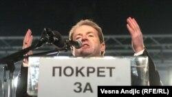 Bogoljub Karić na predizbornom skupu u Beogradu, januar 2006.