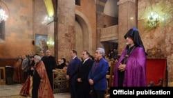 Литургия Рождественского Сочельника в церкви Сурб Саргис в Ереване. 5 января 2016 г.