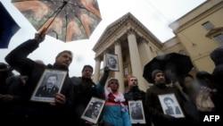 Акция памяти исчезнувших оппозиционеров, Минск, 7 ноября 2016 года