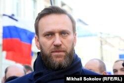 Алексей Навальный на акции памяти Бориса Немцова. 27 февраля 2016 года