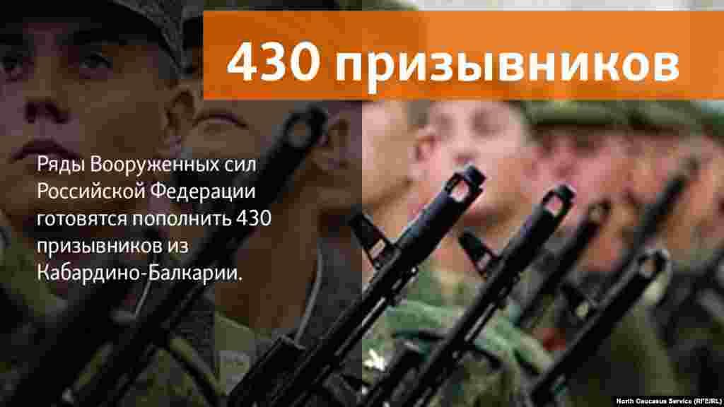13.06.2018 //Ряды Вооруженных сил Российской Федерации готовятся пополнить 400 призывников из Кабардино-Балкарии.