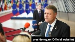 Klaus Iohannis la summitul de la Bruxelles