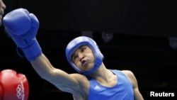 Қазақ боксшысы Серік Сәпиев. Лондон, 7 тамыз 2012 жыл. Көрнекі сурет