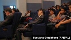 Нобель сыйлығы иегерлерінің лекциясына келген студенттер. Астана, 24 мамыр 2012 жыл.