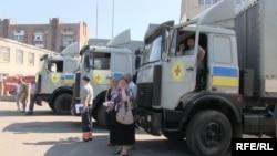 Український гуманітарний конвой досяг Старобільска (фотогалерея)
