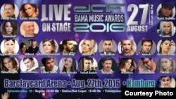 Germany - Poster of DAF BAMA Music Awards cermony to be held in Hamburg on 27.08.2016