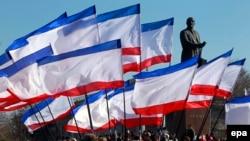 Proruski protesti na Krimu, februar 2015.