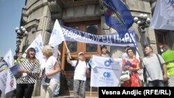 Sa protesta prosvetnih radnika u Beogradu, avgust 2018.