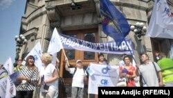 Sa protesta prosvetnih radnika u Beogradu, 31. avgust 2018.