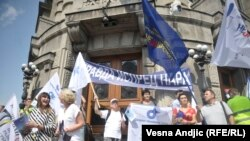 Prošlogodišnji protest prosvetnih radnika u Beogradu, 31.08. 2018.