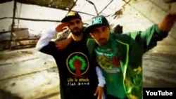 A still from Afghan election anthem contest winners Sami and Shaheed