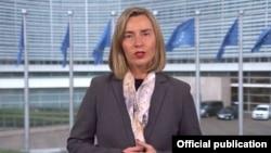 Eвропската претставничка за заедничка надворешна и безбедносна политика Федерика Могерини.
