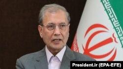 Ірадж Харірчі на пресконференції в Тегерані, 24 лютого 2020 року