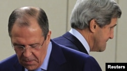 Міністр закордонних справ Росії Сергій Лавров і держсекретар США Джон Керрі