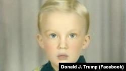 Дональд Трамп в детстве.