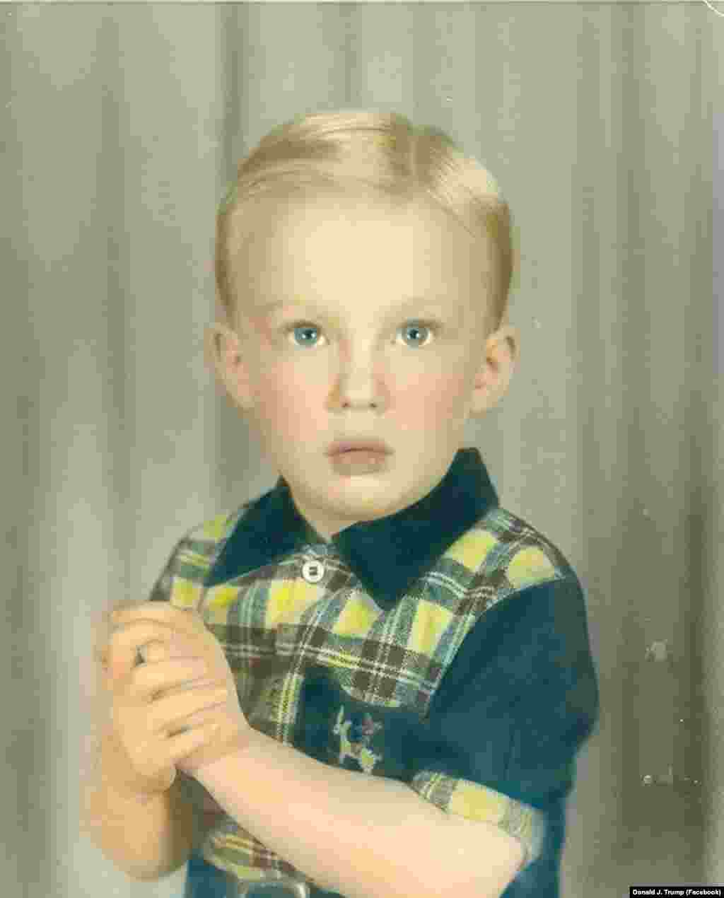 Donald Trump was born into a wealthy New York family in 1946. (undated photo)