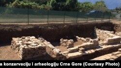 Arheološki lokalitet u Risnu za koji se pretpostavlja da predstavlja temelje palate posljednje ilirske kraljice Teute, Risno, Crna Gora