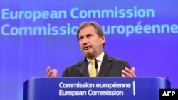 Belgium -- EU Enlargement Commissioner Johannes Hahn gives a press conference on the review of the European policy and enlargement negotiations, at the European Commission in Brussels, November 18, 2015