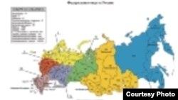 Русиядәге федераль округлар харитәсе
