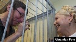 Юлія Тимошенко за місяць до свого арешту прийшла підтримати Юрія Луценка, 5 липня 2011 року