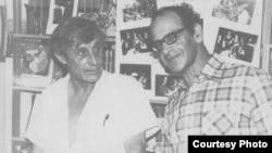 Ефим Эткинд и Виктор Некрасов, 1976