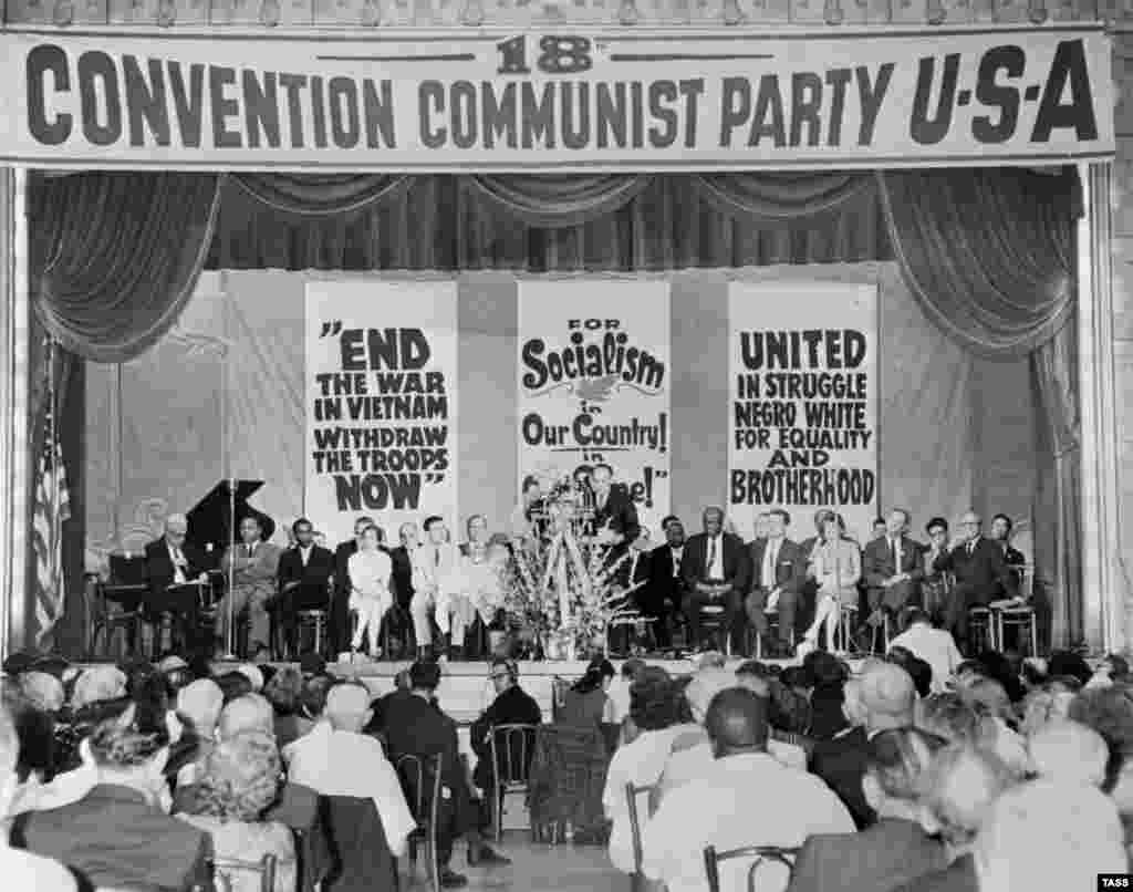 The Communist Party of the U.S.A. was also a favorite subject of TASS photographers. Here, the group holds a congress in 1966.