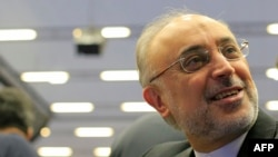 Salehi at the IAEA on September 16