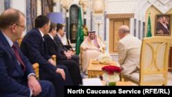 Глава Ингушетии Юнус-Бек Евкуров в составе российской делегации встречается с королем Салманом