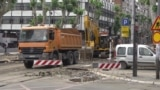 Serbia - Belgrade - construction works in city center - June 20th 2019