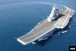 """Флагман ВМС Индии авианосец """"Викрамадитья"""", ранее называвшийся """"Адмирал Горшков"""""""