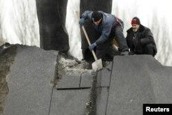 Последствия попытки подрыва памятника Ленину в Донецке