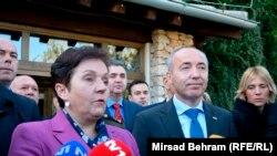 Ministrica odbrane BiH Marina Pendeš i ministar odbrane Hrvatske Damir Krstičević, ilustrativna fotografija