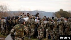 Македонско-грчка граница. 26 ноември 2015.