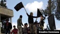 نیروهای طرفدار جبهه النصره در ادلب (عکس از آرشیو)