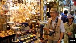 Istanbuldaky bazar. Illýustrasiýa suraty