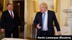 Борис Джонсон с госсекретарем США Майком Помпео