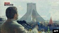 محمود احمدینژاد در میدان آزادی، ۲۲ بهمن ۱۳۸۸